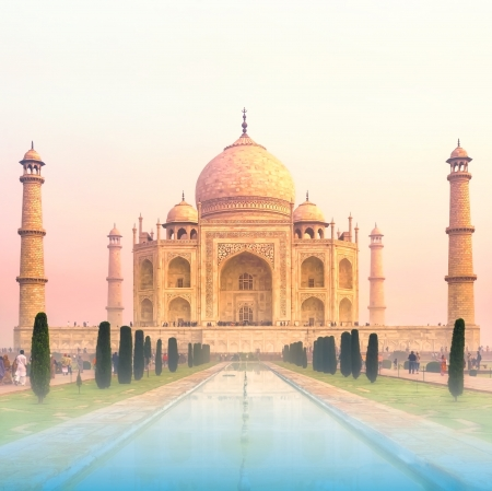 Taj Mahal Sunrise, India photo