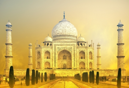 taj: Taj Mahal Sunset, India