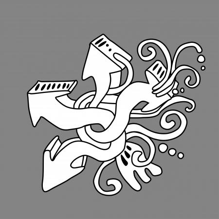 Graffiti art, abstract arrows illustration Stock Vector - 17589830