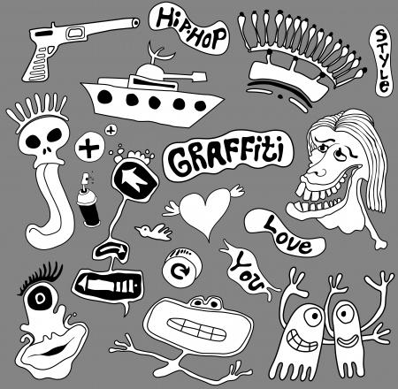 Graffiti elements, urban art illustration Stock Vector - 17589865