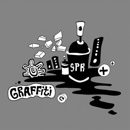 Graffiti art background design Vector