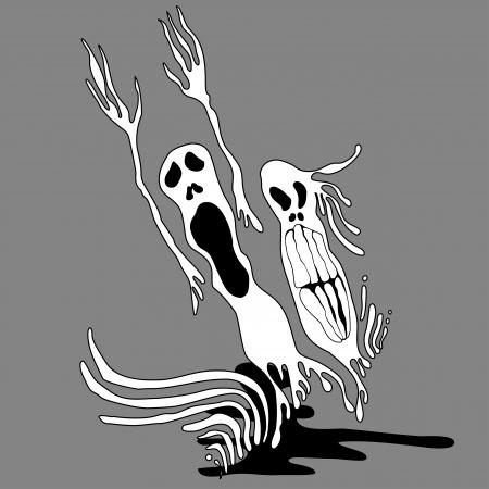 Graffiti art illustration. Ghosts Stock Vector - 17589871