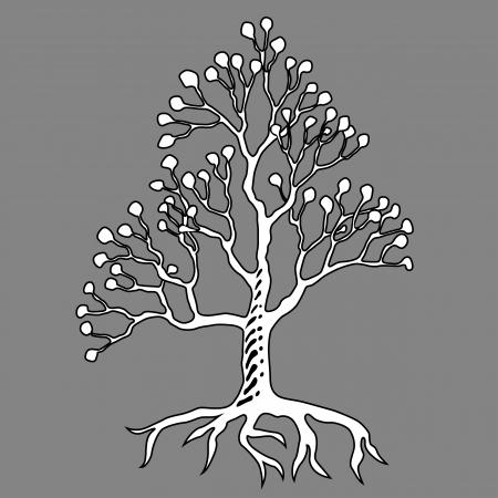 Graffiti art illustration. Abstract tree icon Stock Vector - 17589840