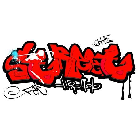 word cool: Graffiti background, urban art