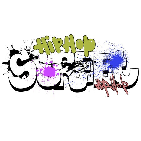 Graffiti background, urban art Vector