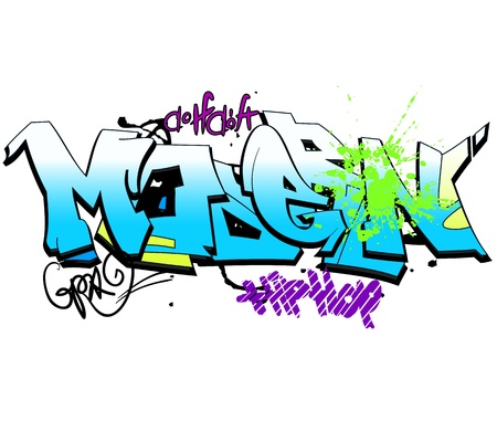 urban art: Graffiti background, urban art
