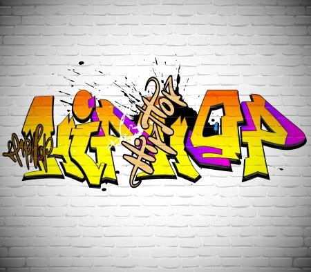 graffitti: Graffiti wall background, urban art