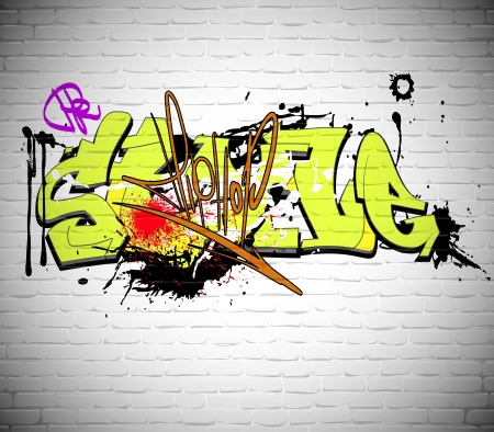 grafitti: Graffiti wall background, urban art