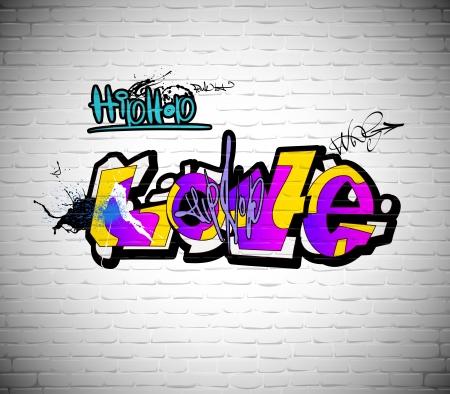 Graffiti muur achtergrond, stedelijke kunst