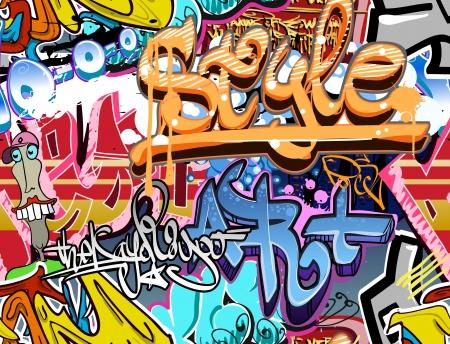 Mur de graffiti urbain art vecteur fond Seamless texture hip hop Banque d'images - 18120217
