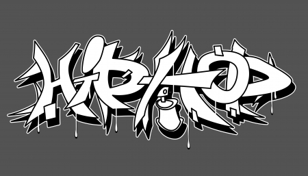 Hip Hop urban graffiti vector illustration Çizim