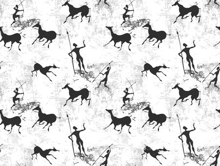 Höhlenmalerei nahtlose Hintergrund Textur