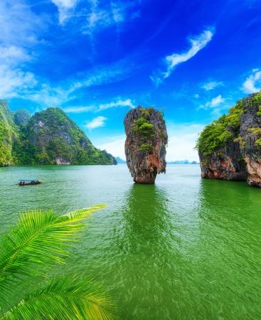 James Bond island Thailand travel destination  Phang Nga bay archipelago