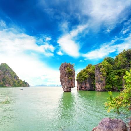 James Bond Island Thaïlande destination baie de Phang Nga archipel Banque d'images - 19258730
