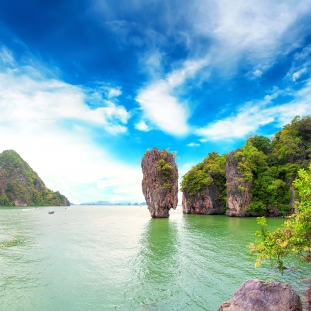 James Bond island Thailand travel destination  Phang Nga bay archipelago