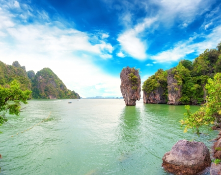james: James Bond island Thailand travel destination  Phang Nga bay archipelago