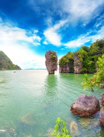 James Bond Island Thaïlande destination baie de Phang Nga archipel Banque d'images - 19449364