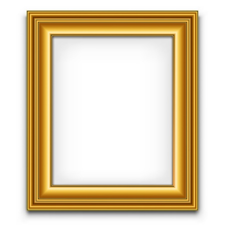 vector decoration: Blank picture frame vector decoration element. Photo template.