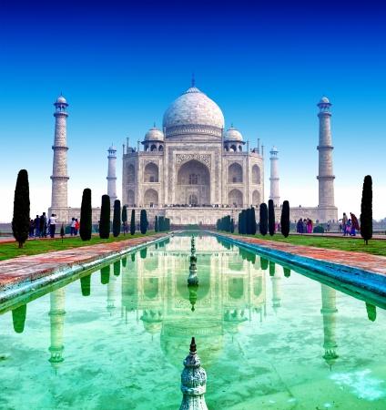 India, Taj Mahal  Indian palace Tajmahal world landmark Stok Fotoğraf - 19840415