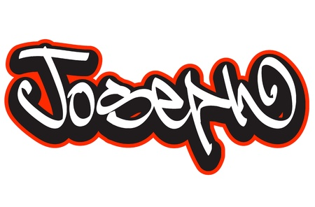 Graffiti font style name  Hip-hop design template for t-shirt, sticker or badge Vector