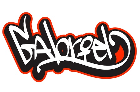 gabriel: Graffiti font style name  Hip-hop design template for t-shirt, sticker or badge