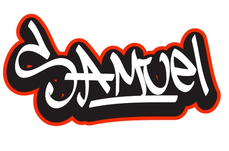 child birth: Graffiti font style name  Hip-hop design template for t-shirt, sticker or badge