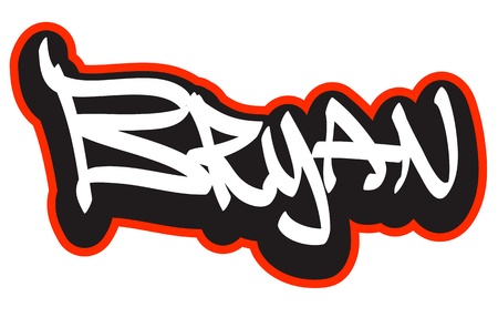 hiphop: Graffiti font style name  Hip-hop design template for t-shirt, sticker or badge