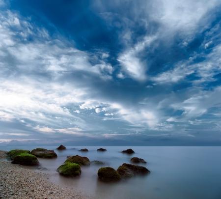 romance sky: Ocean beautiful morning sunrise landscape