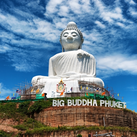 wat: Thailand Buddha statue in Phuket