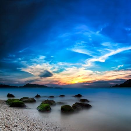 Ocean beautiful sunset landscape