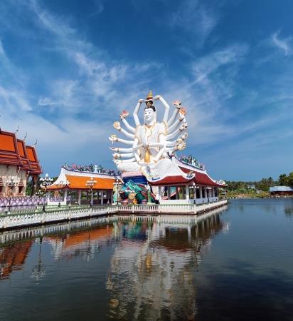 koh: Shiva sculpture near Buddhist Temple in koh Samui, Thailand