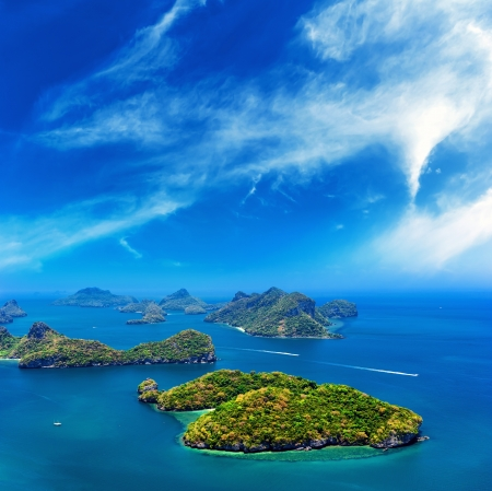 Ocean islands panoramic landscape