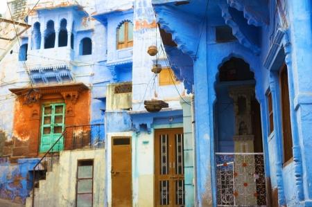 Inde ville bleue de Jodhpur, au Rajasthan Banque d'images - 21232064