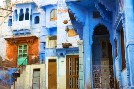 india people: India blue city Jodhpur, Rajasthan