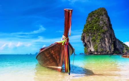 熱帯の島の風景背景タイ ビーチ 写真素材