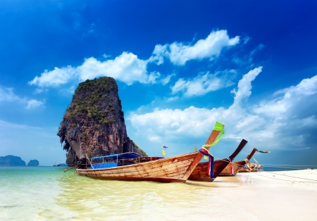 Tropical beach in Thailand photo