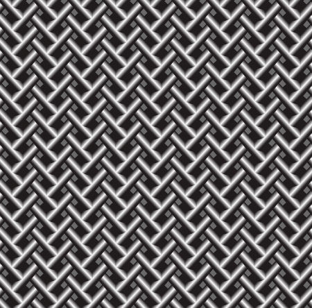 Vector seamless pattern background. Stainless steel shiny metal grid texture Çizim