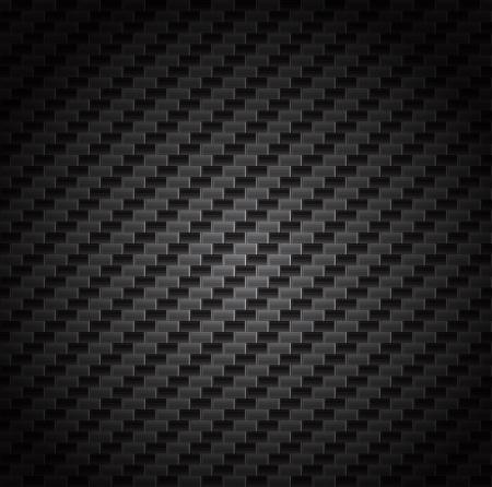 gray thread: Carbon fiber background texture  Vector seamless pattern industrial material design Illustration