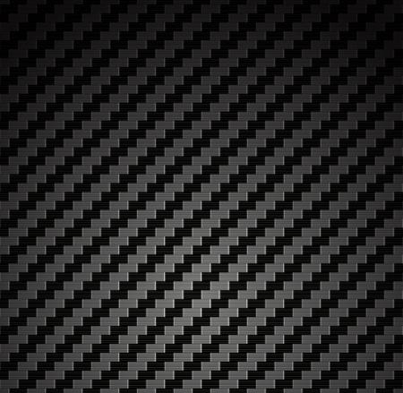 Carbon fiber background texture  Vector seamless pattern industrial material design Illustration