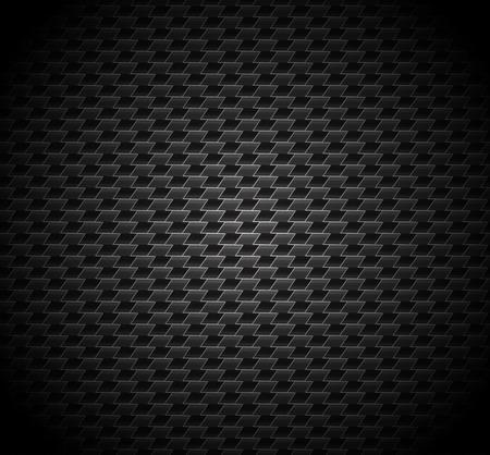 seamless metal: Carbon fiber background texture  Vector seamless pattern industrial material design Illustration