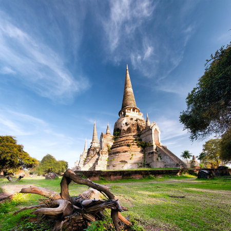 Ancient temple in Ayutthaya Thailand, wat phra si saphet photo