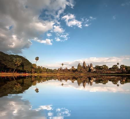 angkor wat: Angkor Wat Cambodia  Angkor Thom khmer temple  Travel landmark Stock Photo