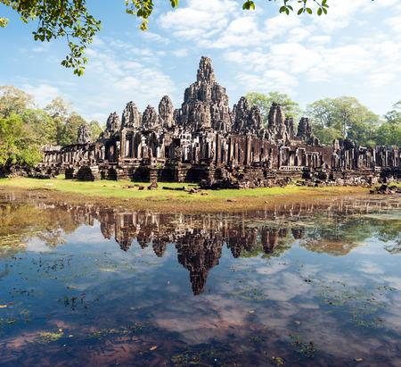 bayon: Angkor Thom Cambodia  Bayon khmer temple on Angkor Wat historical place