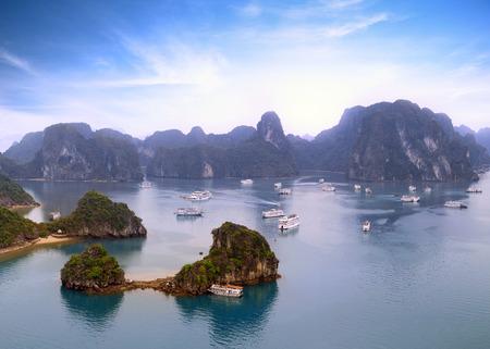 Halong bay Vietnam panoramic view