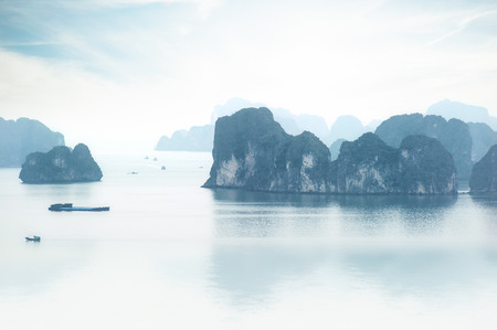 ha: Halong Bay Vietnam  Ha Long Bay panoramic view