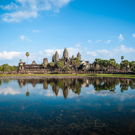 historical sites: Angkor Wat Cambodia. Angkor Thom khmer temple. Travel landmark