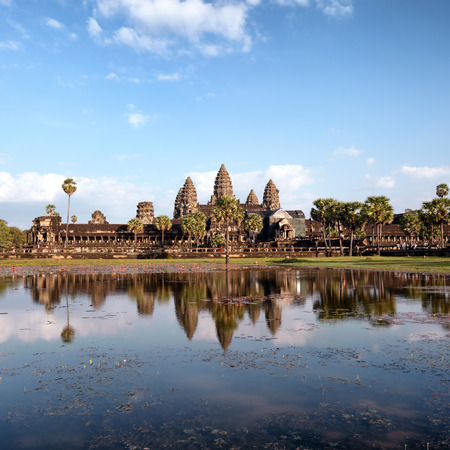 world heritage site: Angkor Wat Cambodia. Angkor Thom khmer temple. Travel landmark