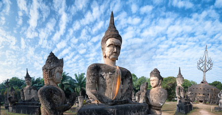 budda: Laos Buddha park Tourist attraction and public park in Vientiane