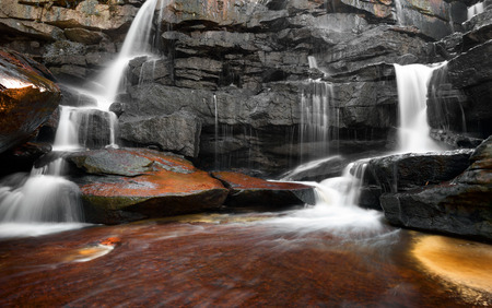 nature photography: Mountain river waterfall, rocks and clean water  Nature photography Stock Photo