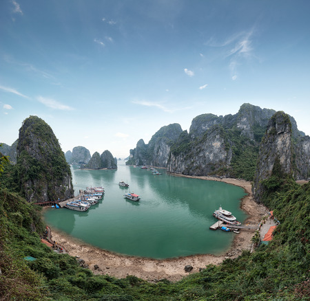 Halong Bay Vietnam. Ha Long Bay panoramic view photo